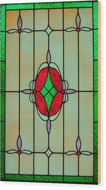 Stained Glass Wood Print by Mary Ann Southern