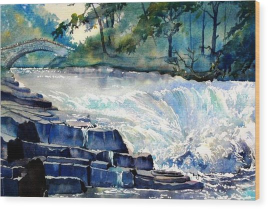 Stainforth Foss Wood Print