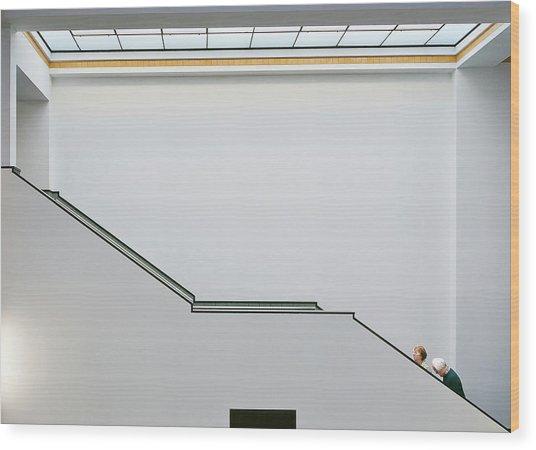 Stair-up Wood Print