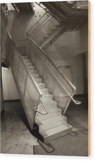 Stairs 01 Wood Print