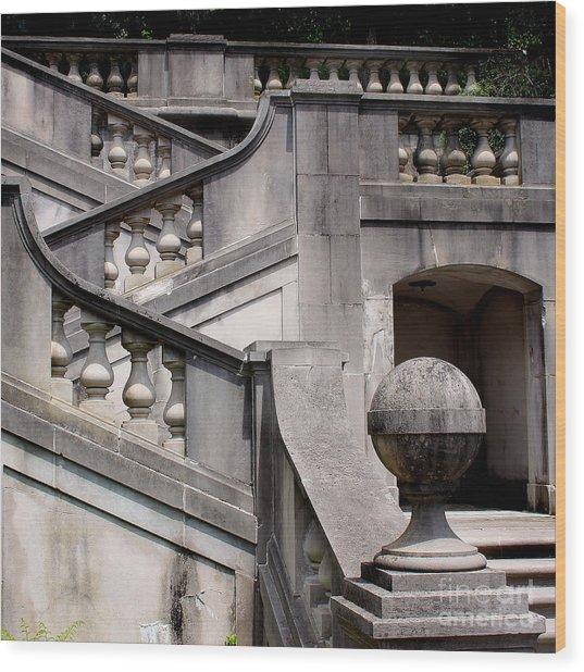 Stairway At Winterthur Wood Print