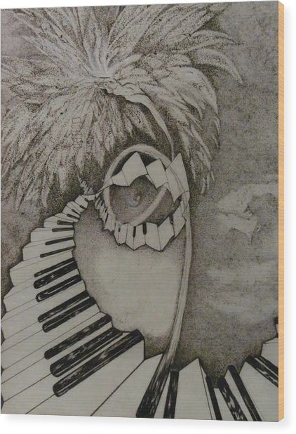 Stairway Il Wood Print by Jacquelyn Roberts