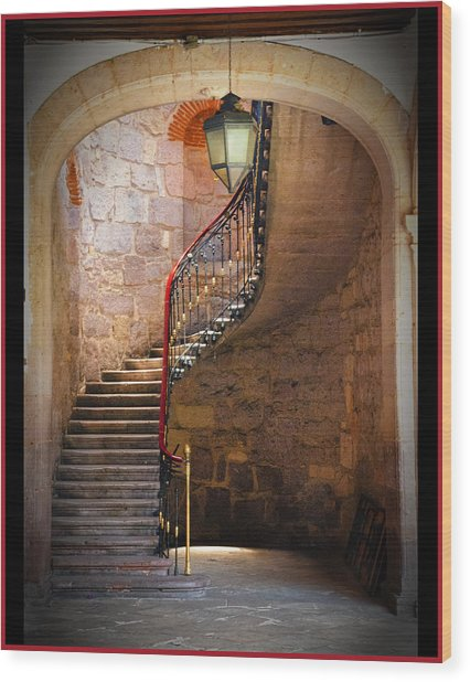Stairway Of Light Wood Print