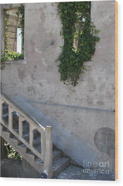 Stairway To Alcatraz Wood Print by Mark Etchason