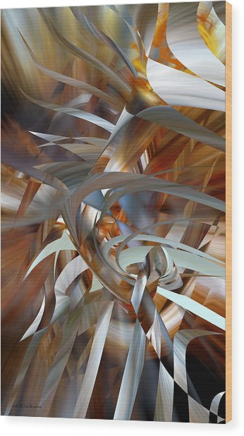 Wood Print featuring the digital art Stairway To Heaven by rd Erickson