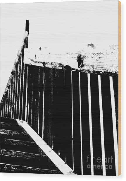 Stairway To Wood Print