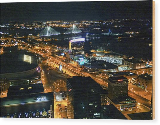 Stan Musial Bridge In St Louis Mo Dsc03215 Wood Print
