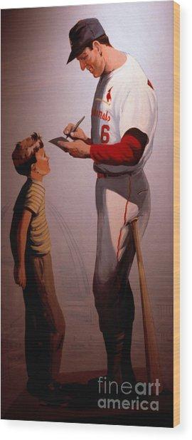 Stan Musial Mural Wood Print
