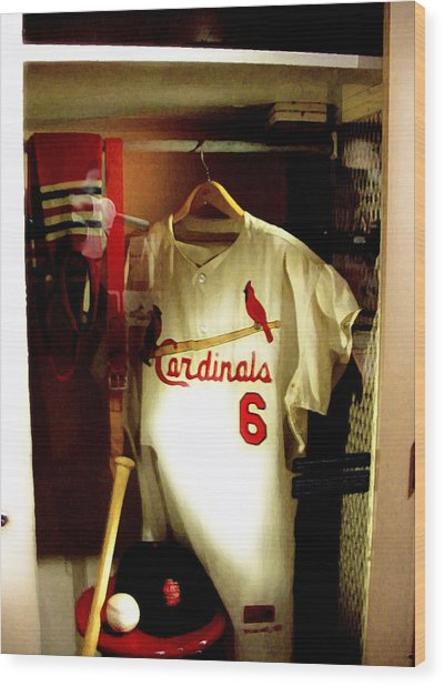 Stan The Man's Locker Stan Musial Wood Print
