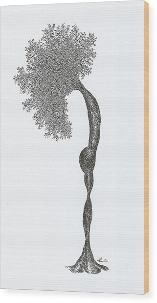 Standing Backward Bend Wood Print