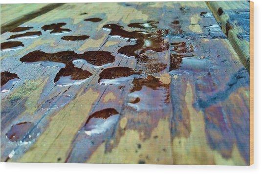 Standing Drops Wood Print