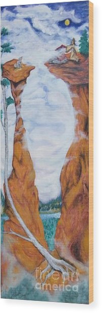 Standing Rock Dragon Wood Print