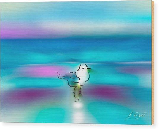 Standing Seagull Wood Print