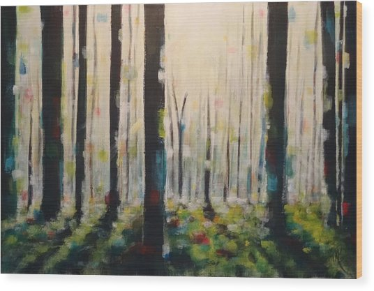 Into The Woods Wood Print