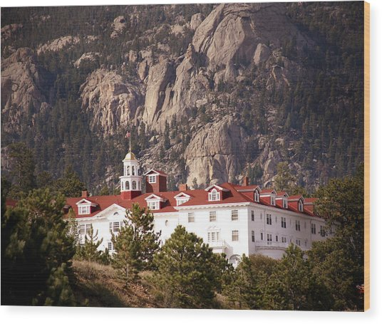 Stanley Hotel Estes Park Wood Print