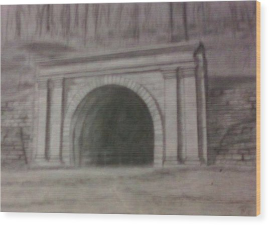 Staple Bend Tunnel West Facade Wood Print