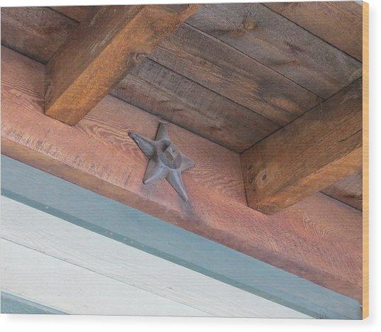 Star Wood Print by Don Barnes