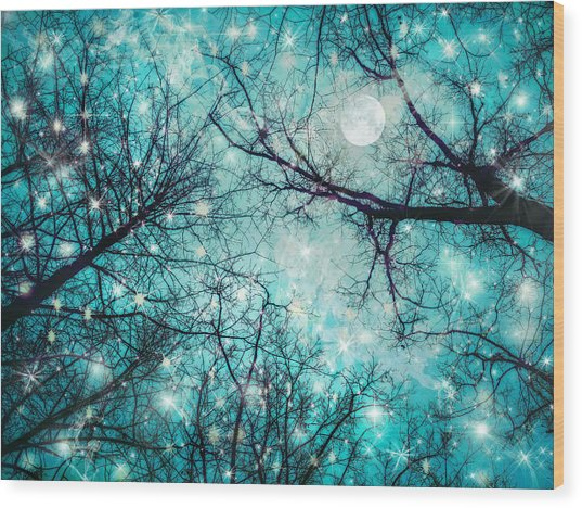 Star Night Wood Print by William Schmid