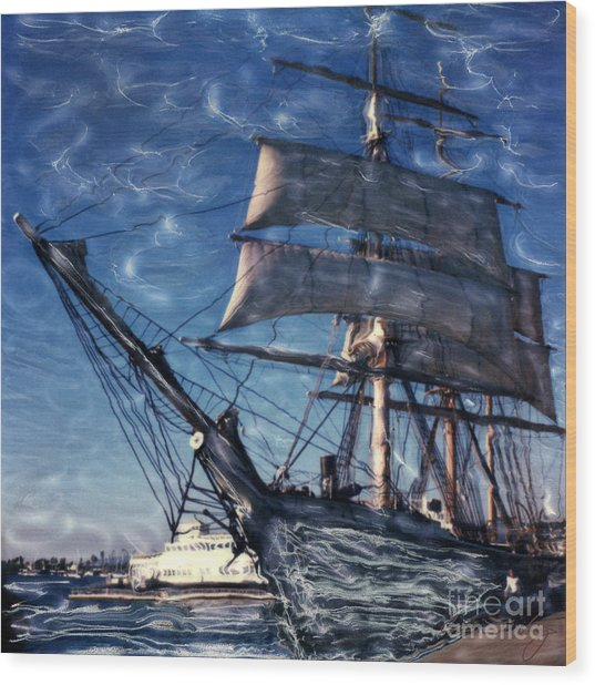 Star Of India Ghost Ship Wood Print