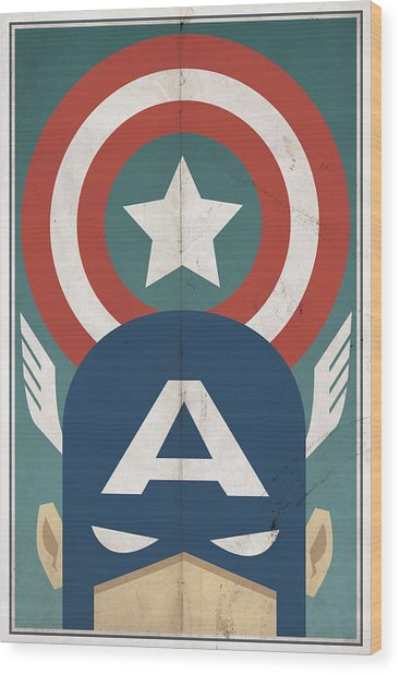Star-spangled Avenger Wood Print