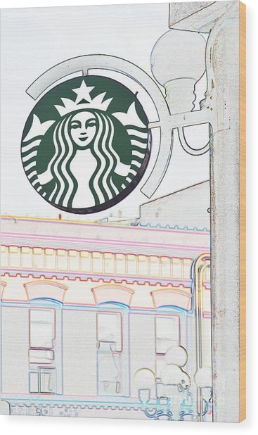 Starbucks Wood Print