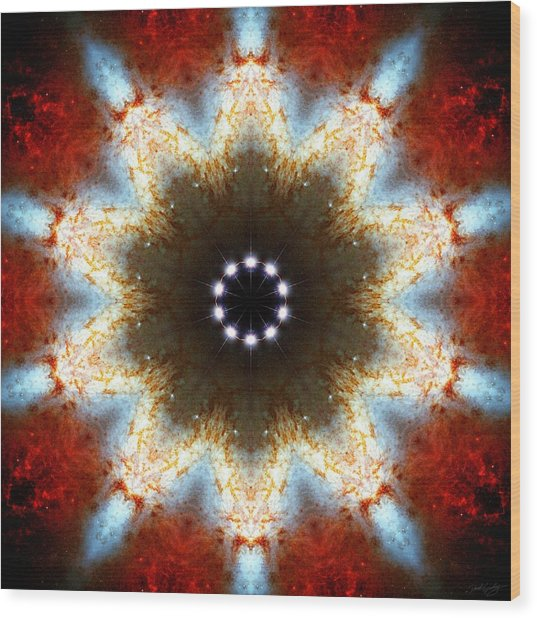 Wood Print featuring the photograph Starburst Galaxy M82 I by Derek Gedney