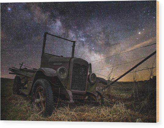 Stardust And  Rust Wood Print