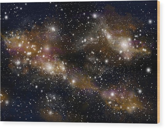 Starfield No.31314 Wood Print