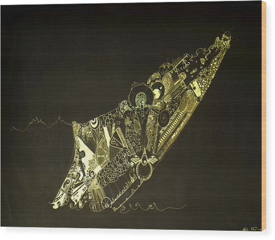 Staring At The Unknown Wood Print by Guillermo De Llera