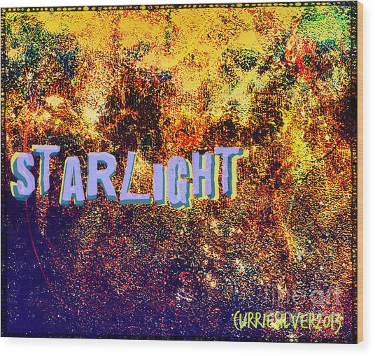 Starlight Wood Print by Currie Silver