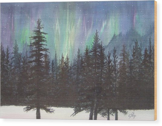 Starlight Dance Wood Print