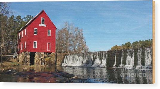 Starr's Mill In Senioa Georgia Wood Print
