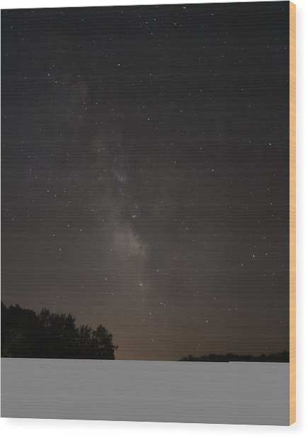Stars On Lake Logan Wood Print