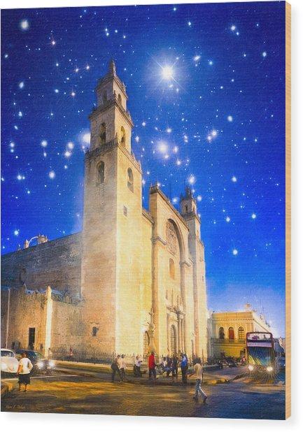Stars Shine On Merida Wood Print by Mark Tisdale