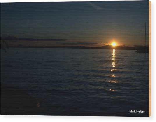 Start To A Brand New Day Wood Print by Mark Holden