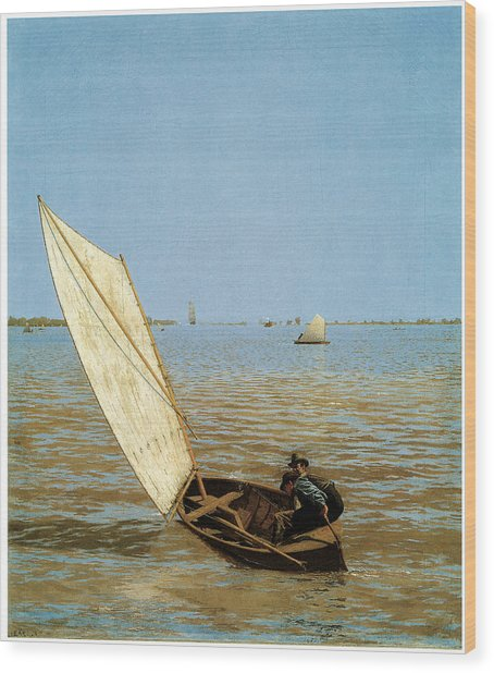 Starting Out After Rail Wood Print by Thomas Eakins