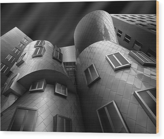 Stata Center Wood Print by Louis-philippe Provost