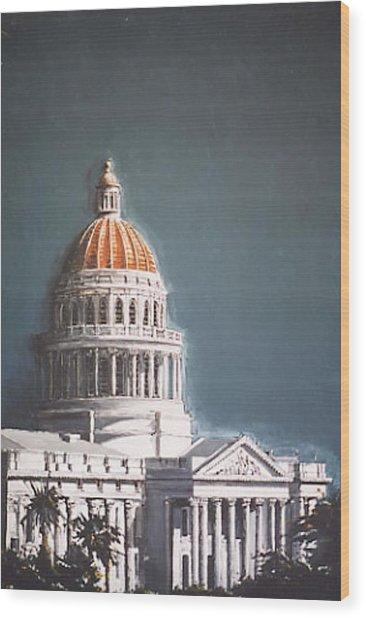 State Capitol Wood Print