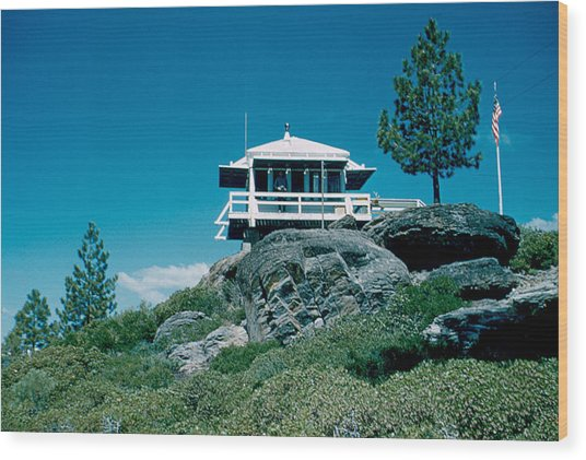 State Line Lookout 1956 3 Wood Print by Cumberland Warden