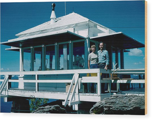 State Line Lookout 1956 Wood Print by Cumberland Warden