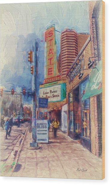 State Street Impasto Wood Print