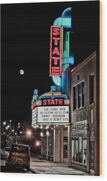 Wood Print featuring the photograph State Theater by Jim Thompson