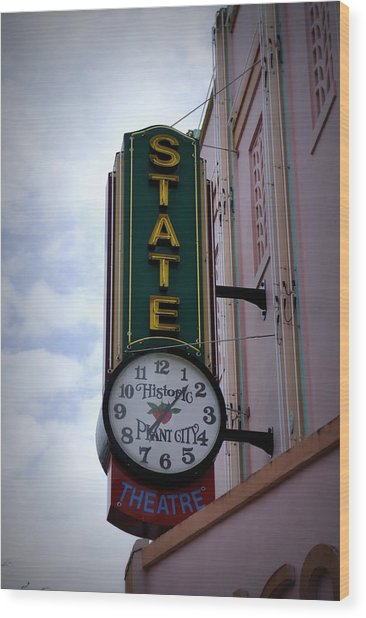 State Theatre Sign Wood Print