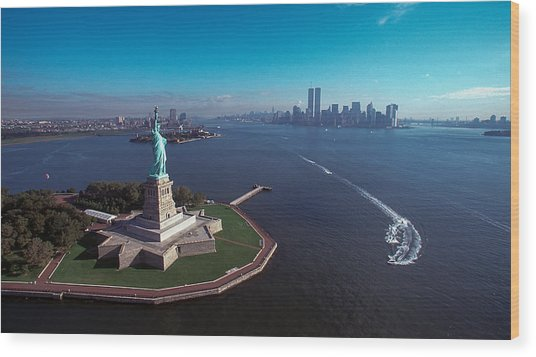 Statue Of Liberty Wood Print by Kim Lessel