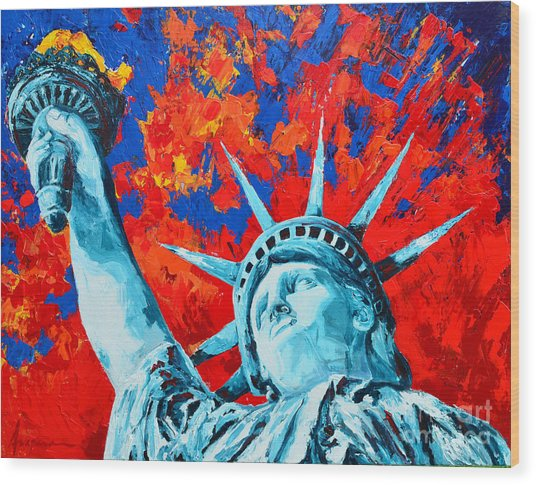 Statue Of Liberty - Lady Liberty Wood Print