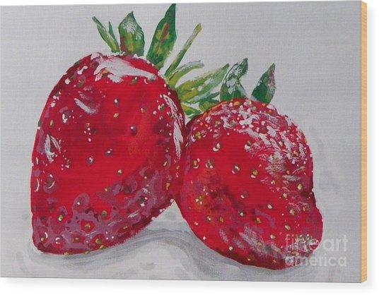 Stawberries Wood Print