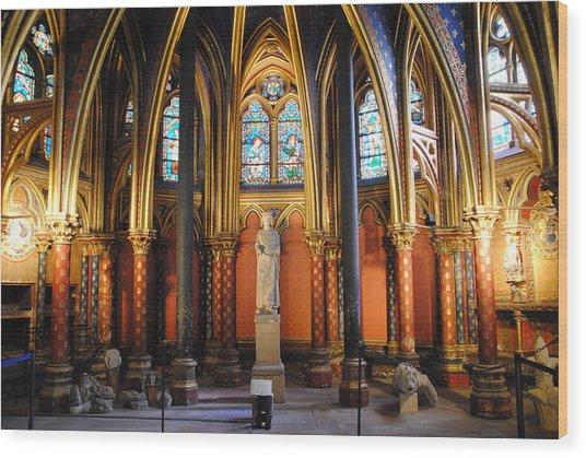 Ste.-chapelle Lower Chapel Wood Print