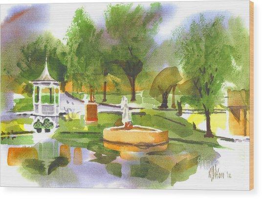Ste Marie Du Lac In Watercolor II Wood Print