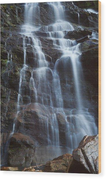 Steall Falls Wood Print