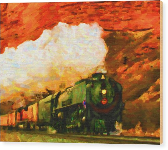 Steam And Sandstone Wood Print